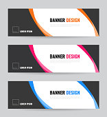 Banner web template. Vector eps 10