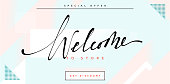 Banner Welcome to store handmade calligraphy lettering.