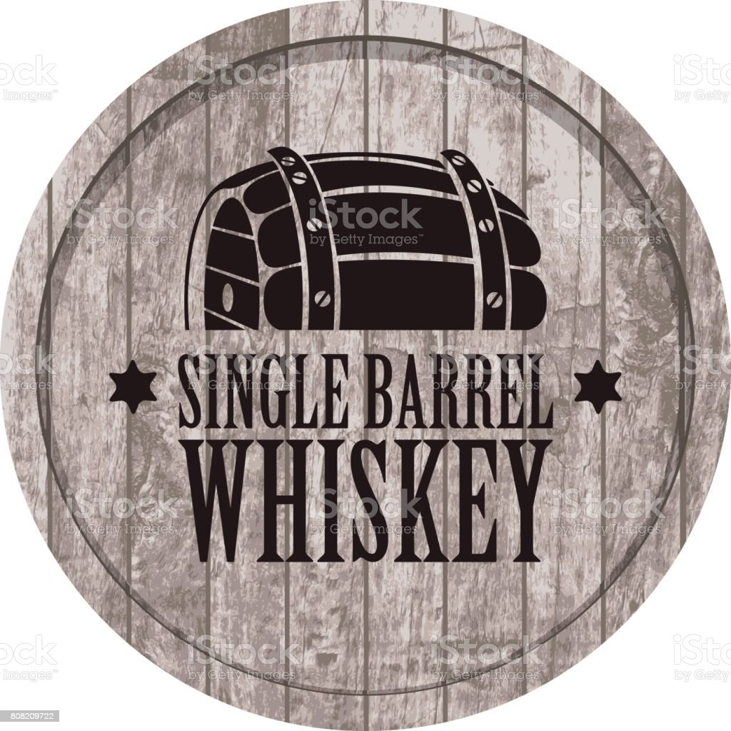 banner with a barrel of whiskey in retro style vector art illustration