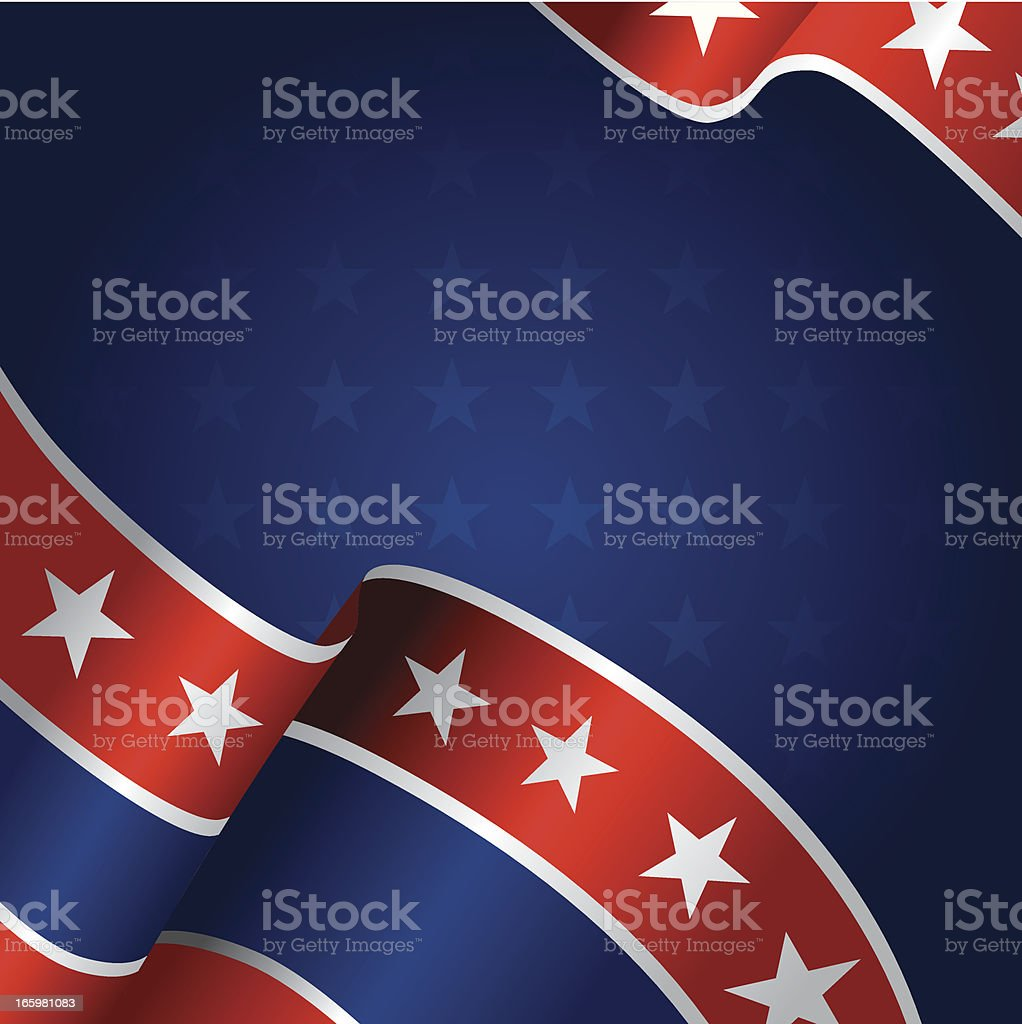 Banner with American Flag royalty-free stock vector art
