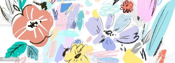 Banner with beautiful flowers vector floral header vector id528552522?b=1&k=6&m=528552522&s=612x612&h=l8nz wj2niuirbgbxprdaxj7dn rk8t64 j8tmnjg7k=