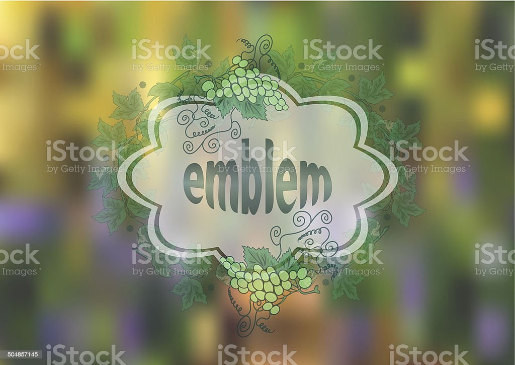 Banner with bunches of grape and background royalty-free stock vector art