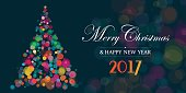 Christmas and New Year greeting card.