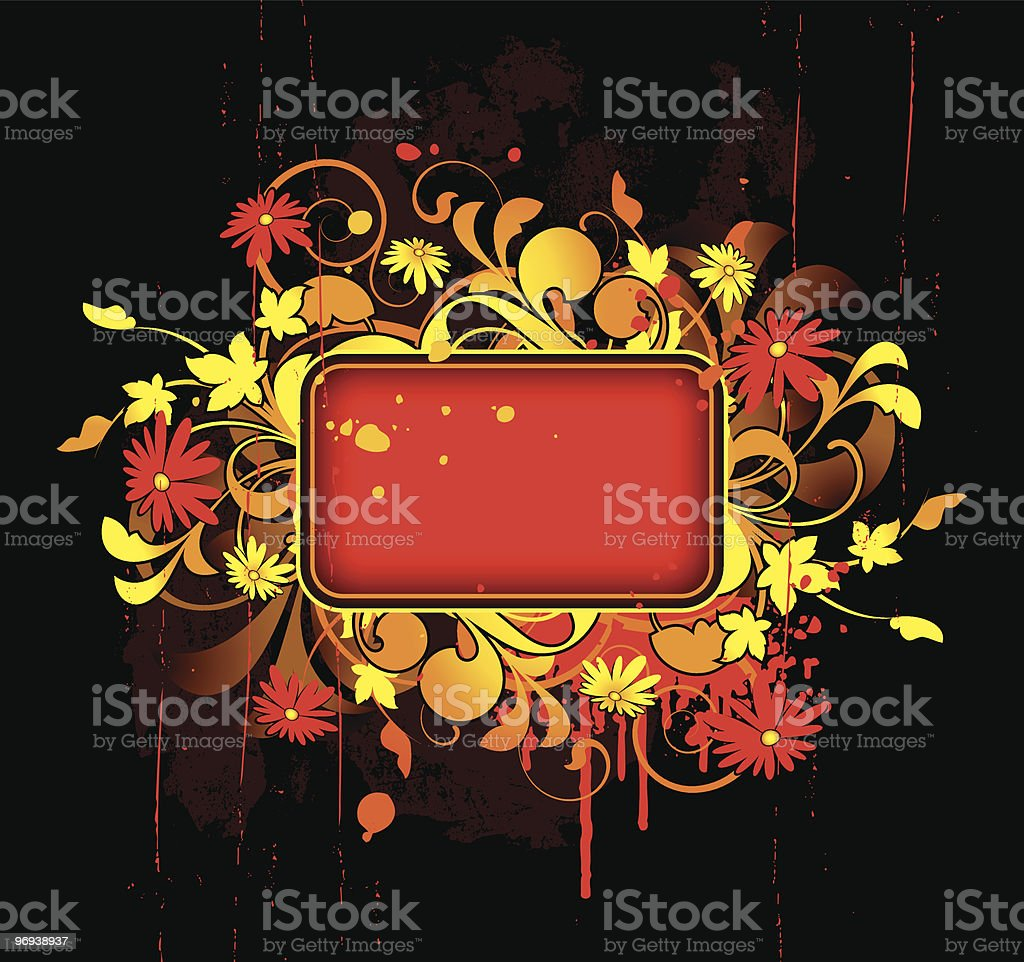 Banner with floral elements royalty-free banner with floral elements stock vector art & more images of abstract