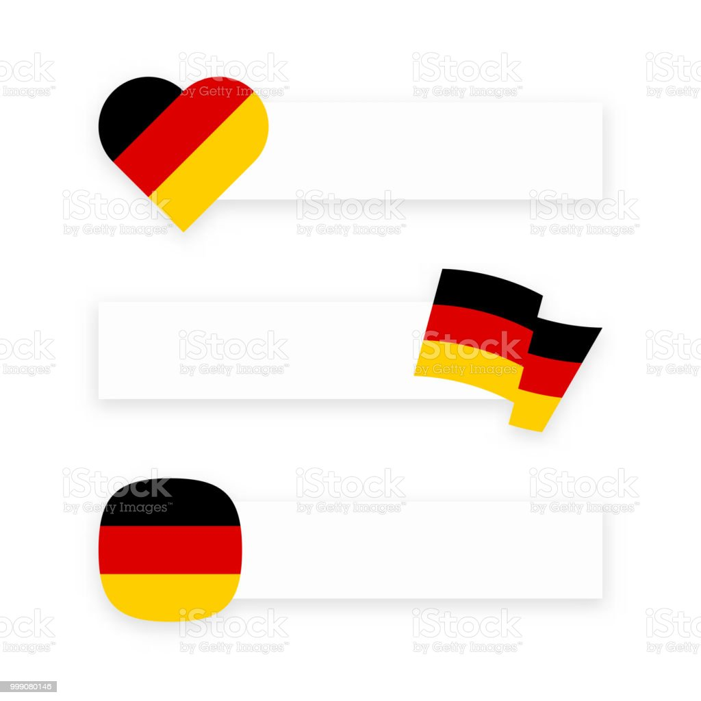 banner with german flag and place for message stock vector art