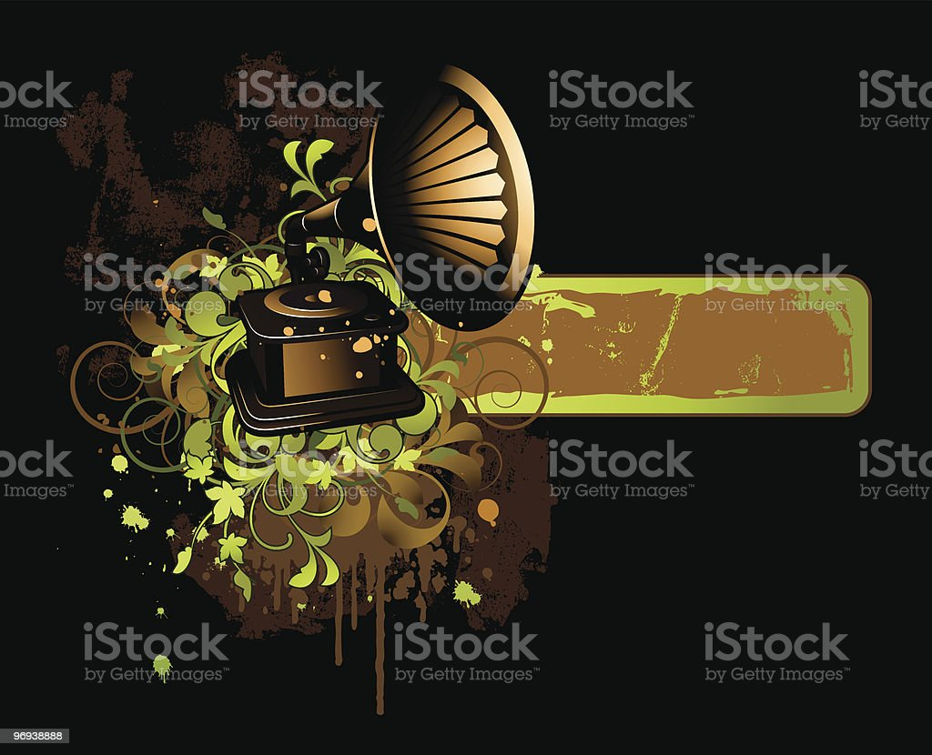 Banner with gramophone royalty-free banner with gramophone stock vector art & more images of abstract