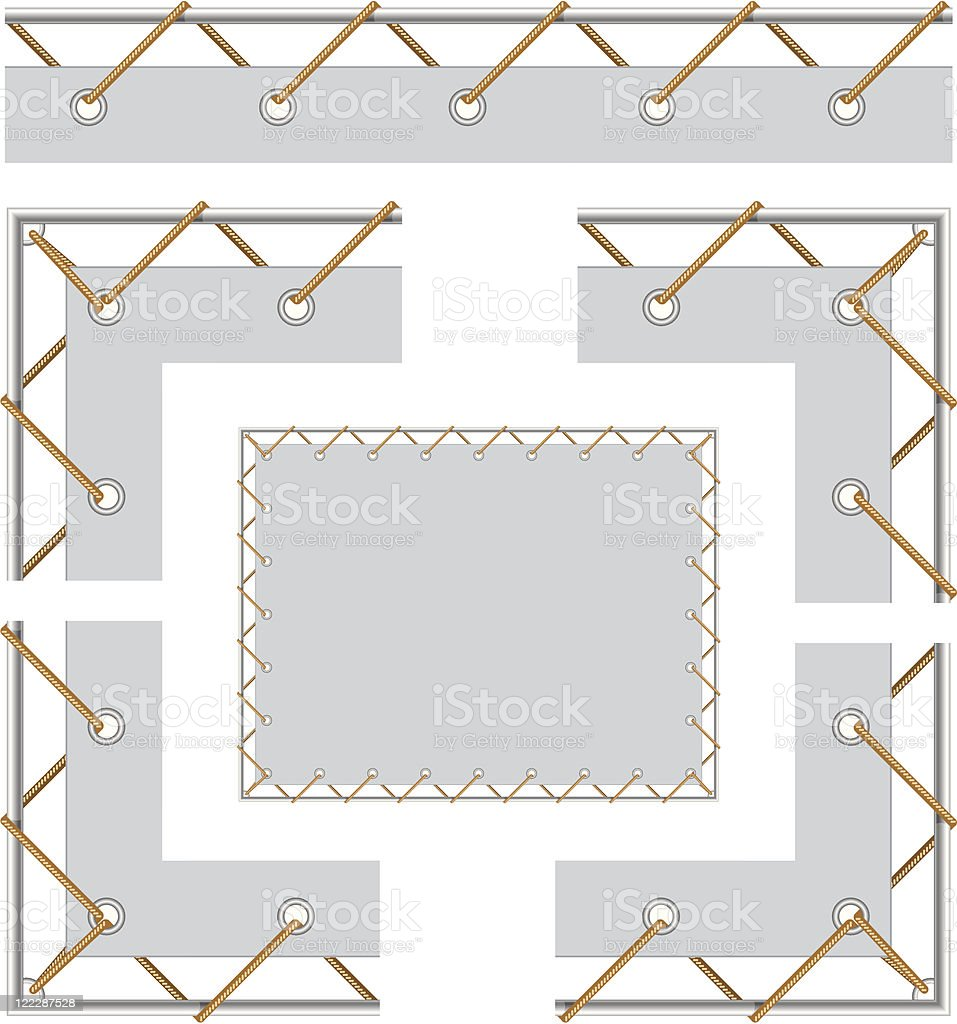 Banner with grommet royalty-free stock vector art