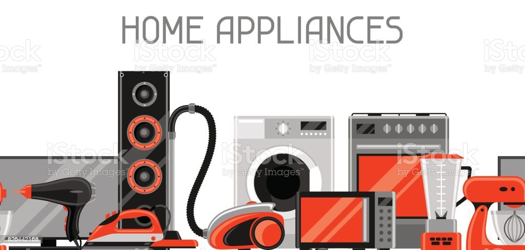 Banner With Home Appliances Household Items For Sale And