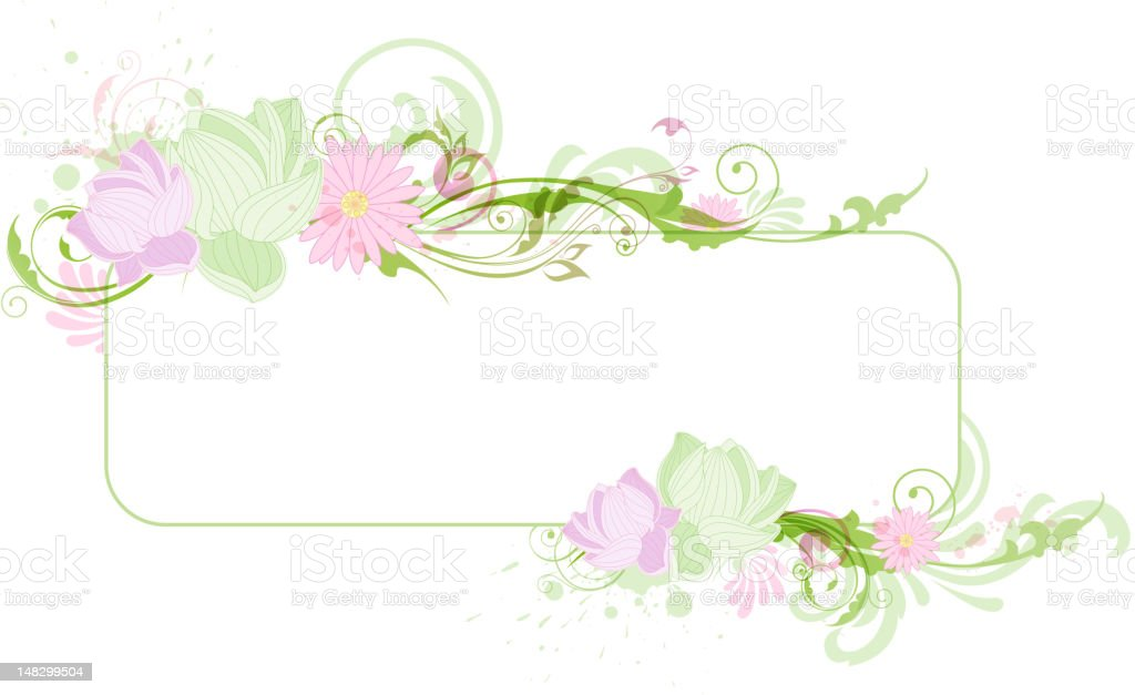 Banner with lotus royalty-free stock vector art