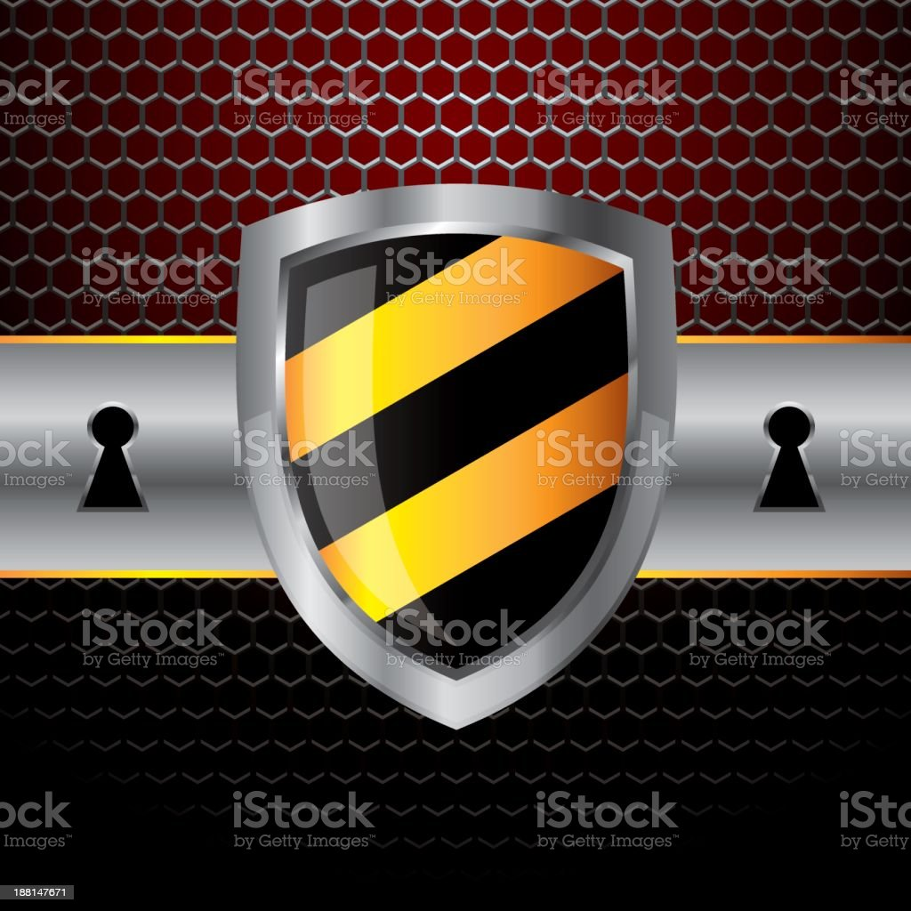 Banner with Protect Shield royalty-free banner with protect shield stock vector art & more images of antivirus software