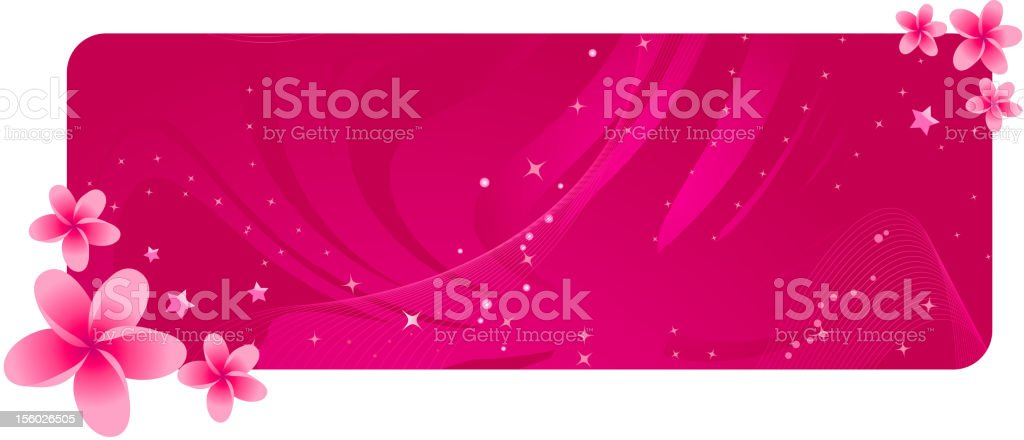 Banner with tropical flowers royalty-free stock vector art