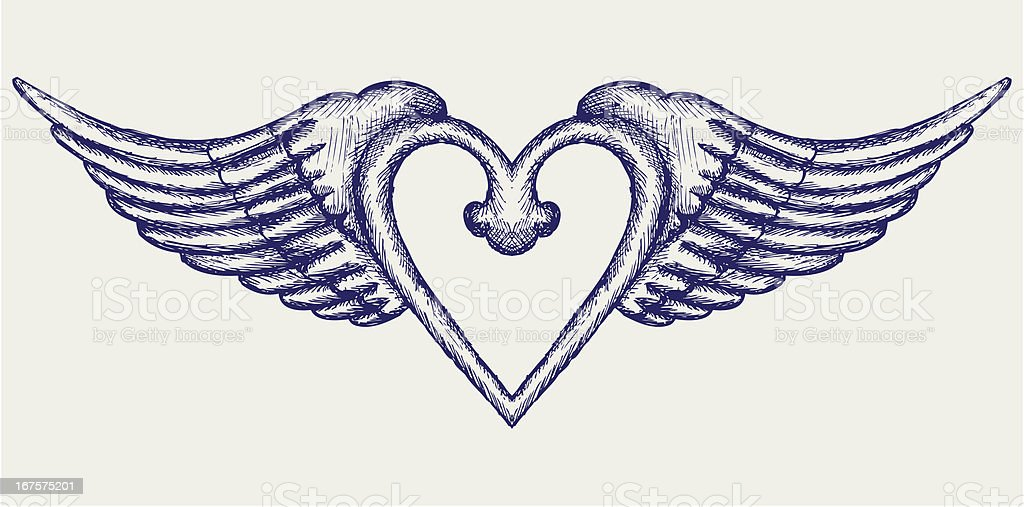 Banner with wings royalty-free banner with wings stock vector art & more images of animal body part
