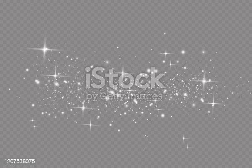 istock Banner with yellow dust. Light effect on beautiful banners. Dust effect. Dust particles flicker on a dark background. vector illustration. magic.Christmas 1207536075