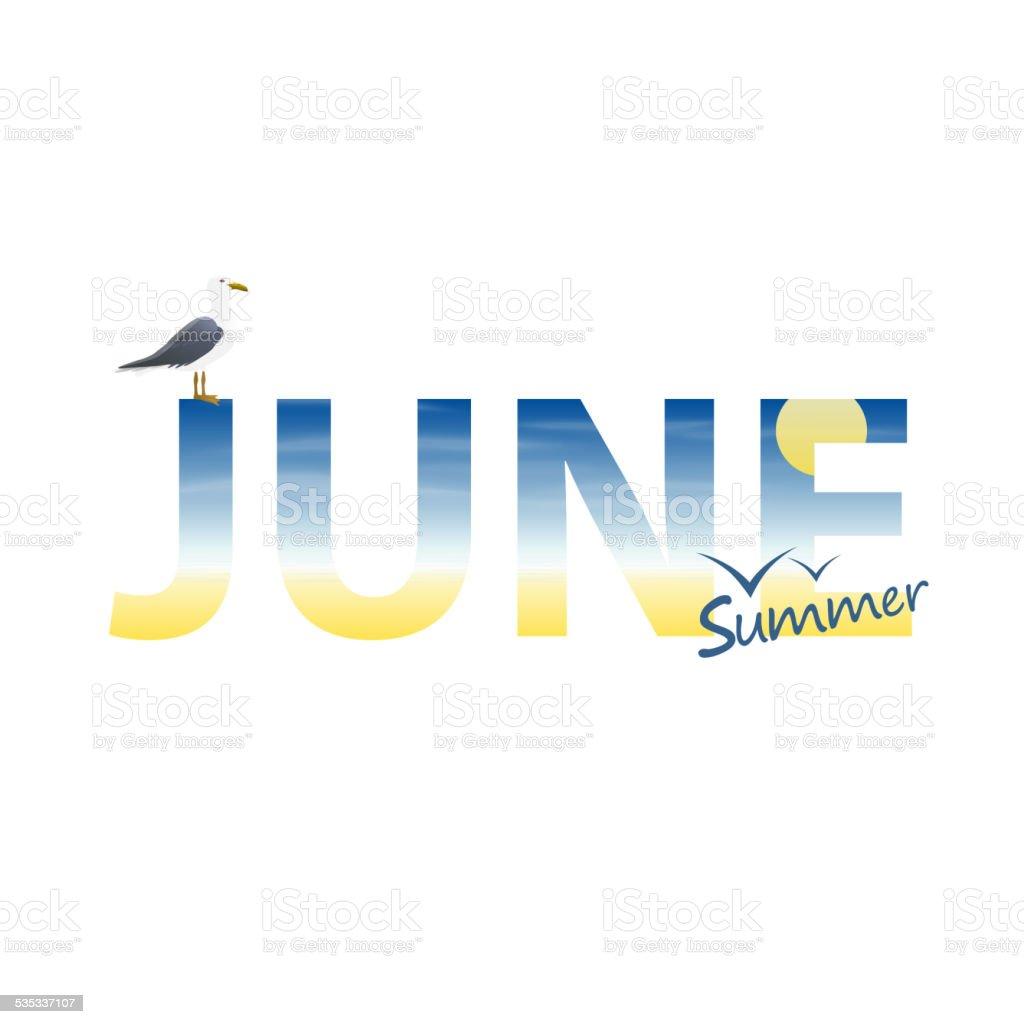 Banner year in June vector art illustration