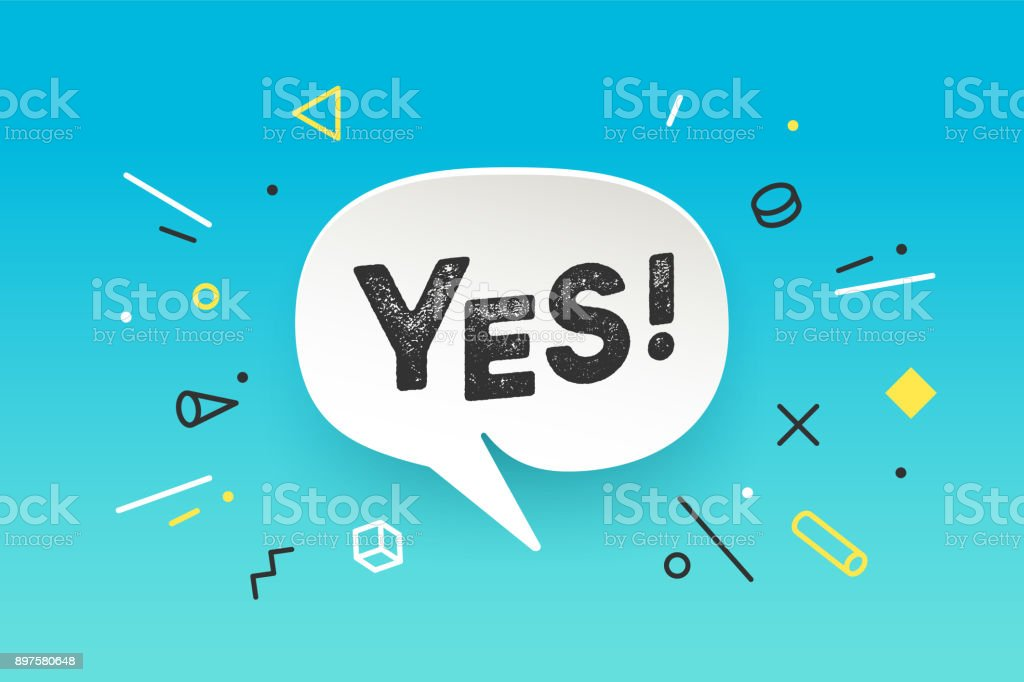 Banner Yes. Banner No. Speech bubble, poster vector art illustration