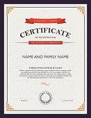 A bannered certificate template design
