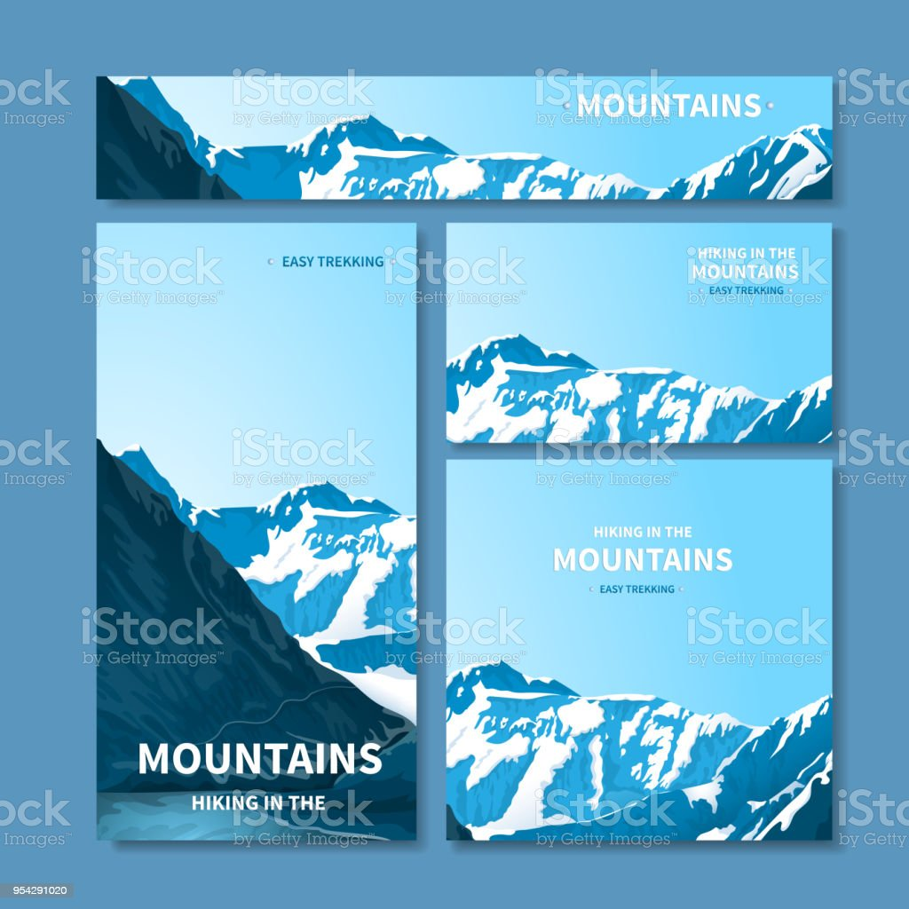 Banners and business cards with mountains stock vector art more banners and business cards with mountains royalty free banners and business cards with mountains stock colourmoves
