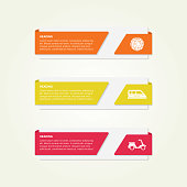 Colorful Banners and Labels With Travel Icons