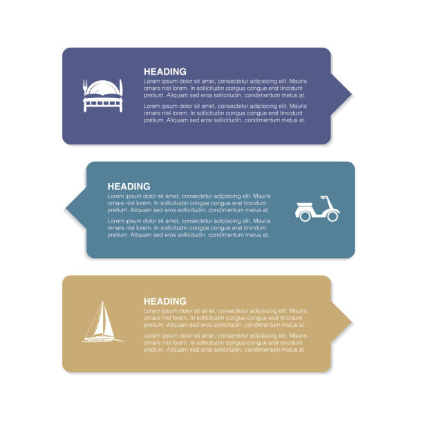 Banners and Labels With Travel Icons vector art illustration