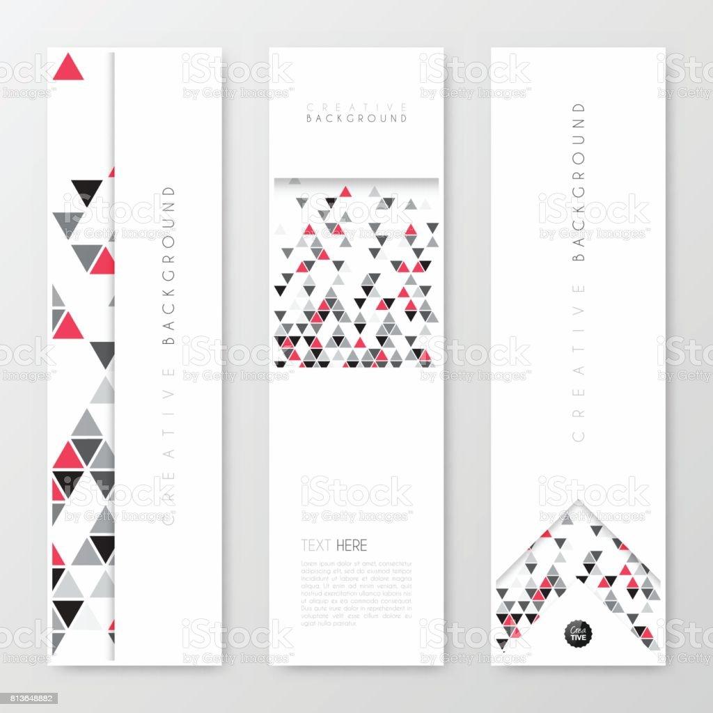 Banners design, template, creative design, Brochure, flyer, vector art illustration
