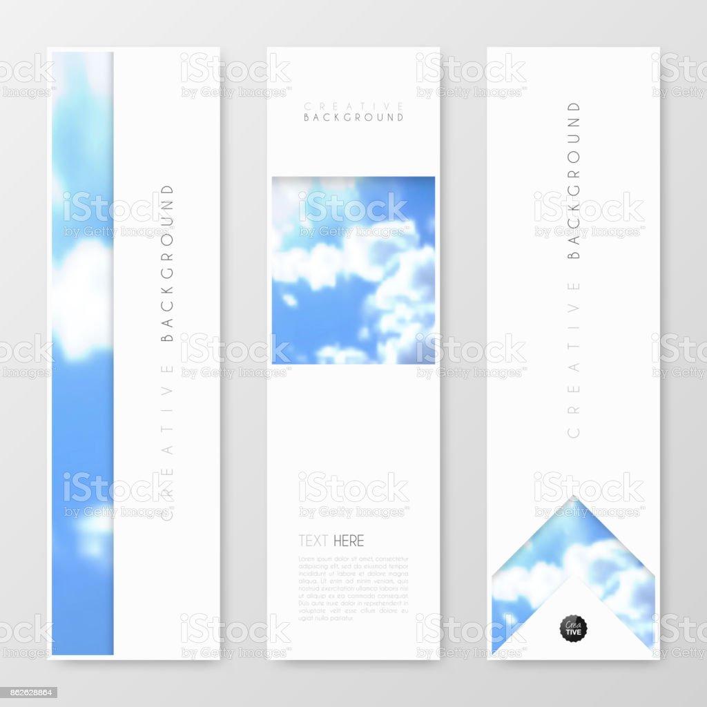 Ilustración de Banners Diseño Plantilla Diseño Creativo Folleto ...
