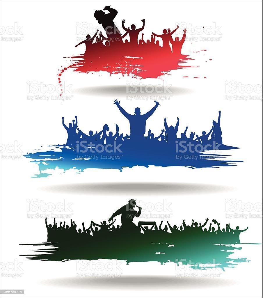 Bannières pour le sport et les concerts - Illustration vectorielle
