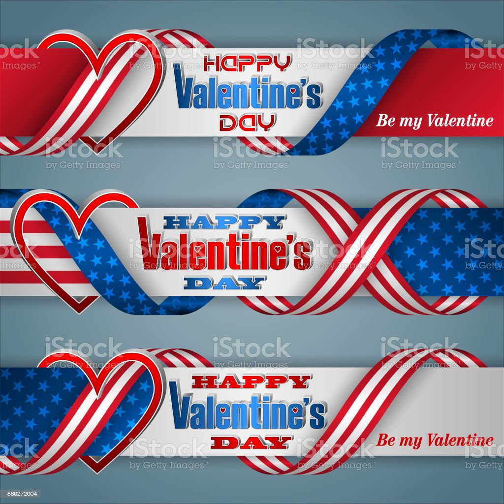 Banners For Valentines Day Holiday Stock Vector Art More Images Of