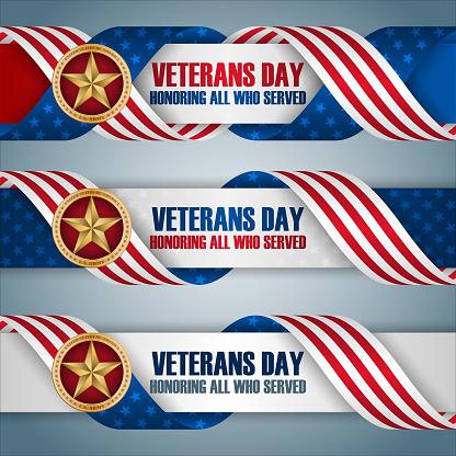 Banners for Veterans day celebration