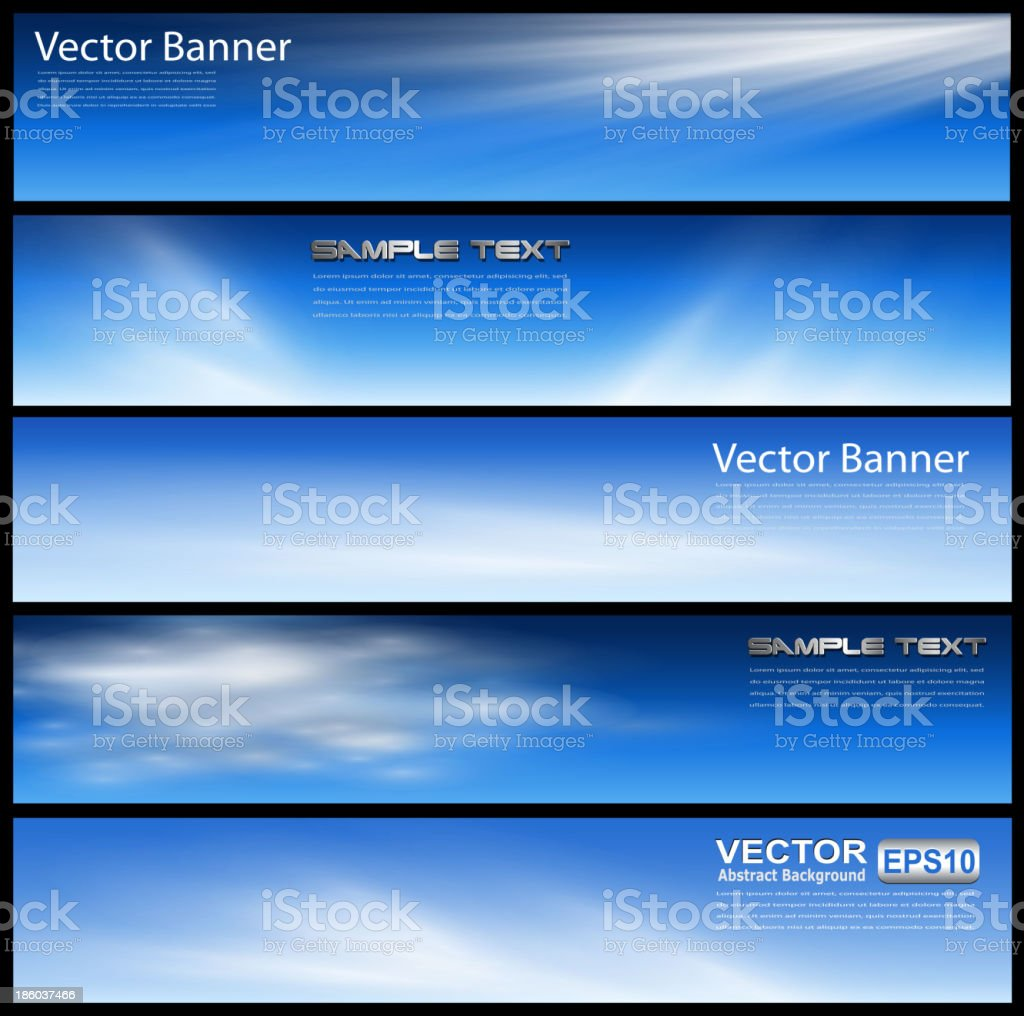 Banners, headers vector art illustration