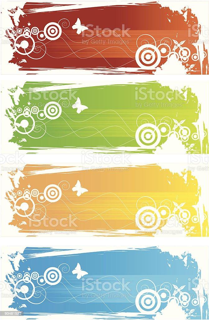배너 다양한 색상 - 로열티 프리 0명 벡터 아트