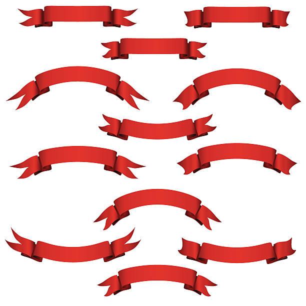 баннеры красный - four seasons stock illustrations