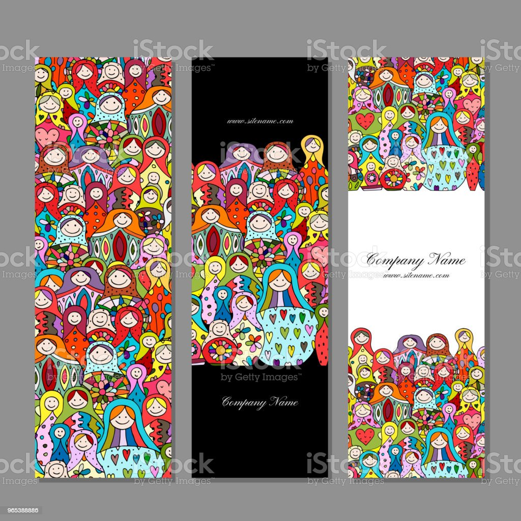 Banners set, Matryoshka, russian nesting dolls design royalty-free banners set matryoshka russian nesting dolls design stock vector art & more images of afghanistan