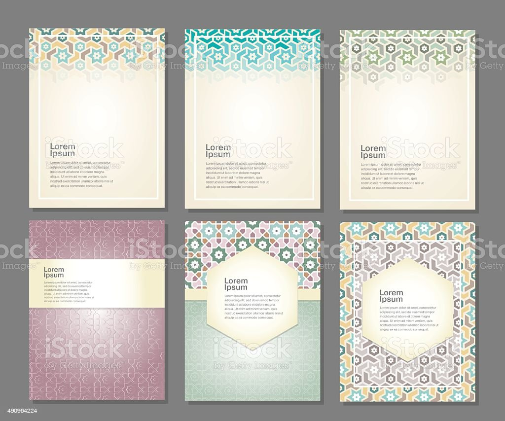 Banners set of islamic. vector art illustration