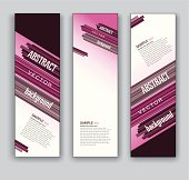 Banners. Set of Three. Abstract Backgrounds.