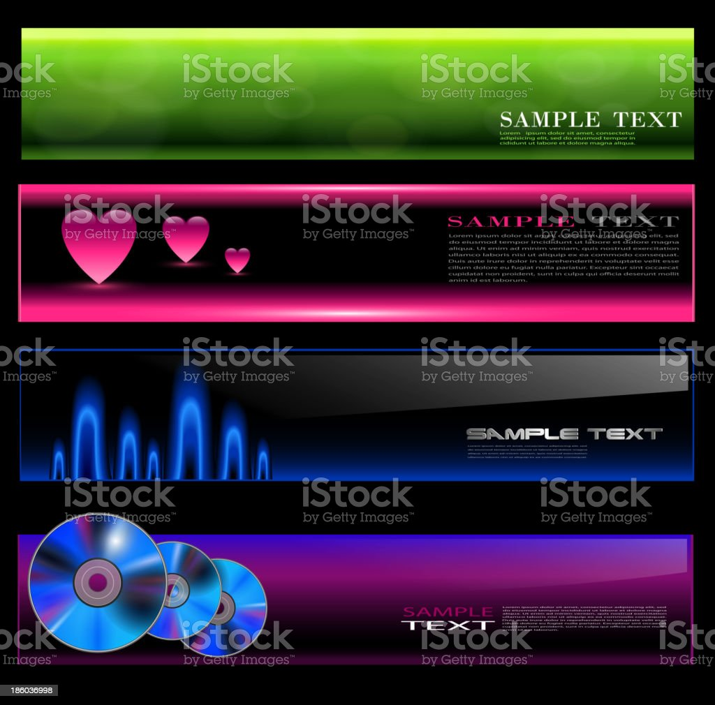 Banners set royalty-free stock vector art