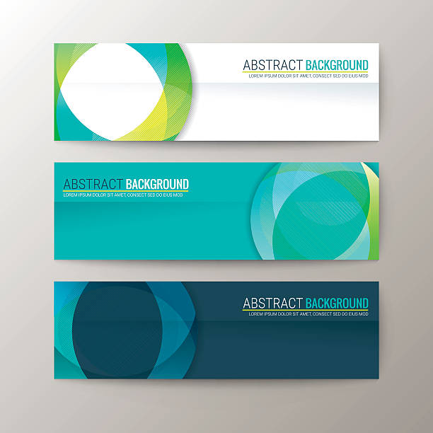 Banners template with abstract circle shape pattern background Set of modern design banners template with abstract circle shape pattern background business borders stock illustrations