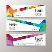 banners template with abstract colorful circle pattern background