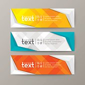 banners template with abstract low poly background