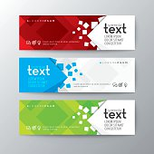 banners template with abstract square pattern background