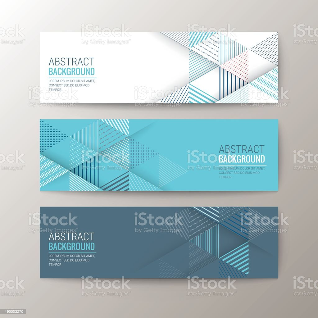Banners Template With Abstract Triangle Pattern Background Stock ...