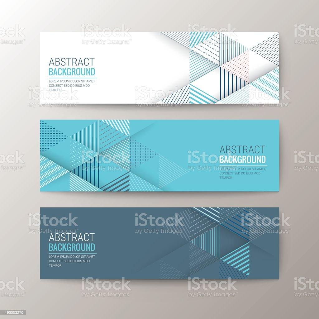 banners modelo com triângulo abstrato de fundo com padrão - ilustração de arte em vetor