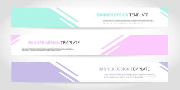 stockillustraties, clipart, cartoons en iconen met banners vector design of headers web template met abstracte geometrische trendy achtergrond - banner