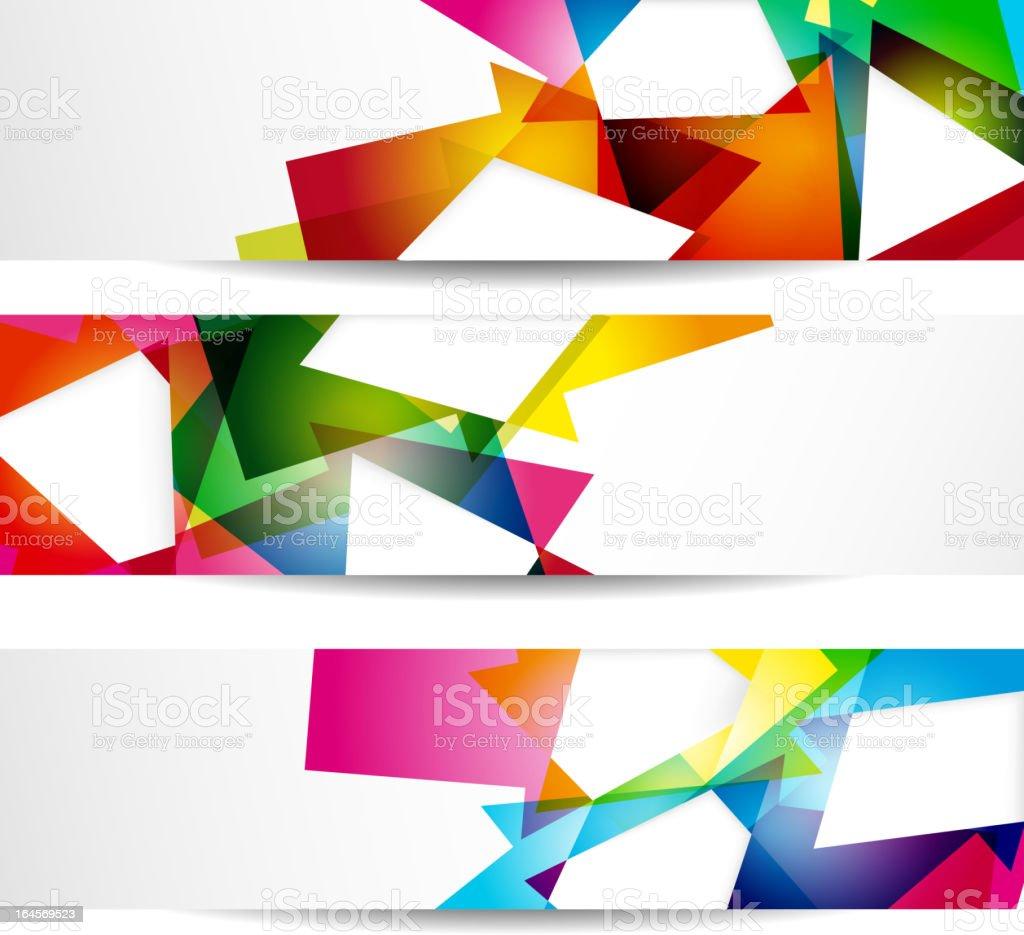 Banners vector art illustration