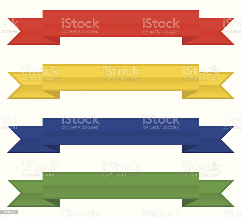 banners - Royalty-free Blue stock vector