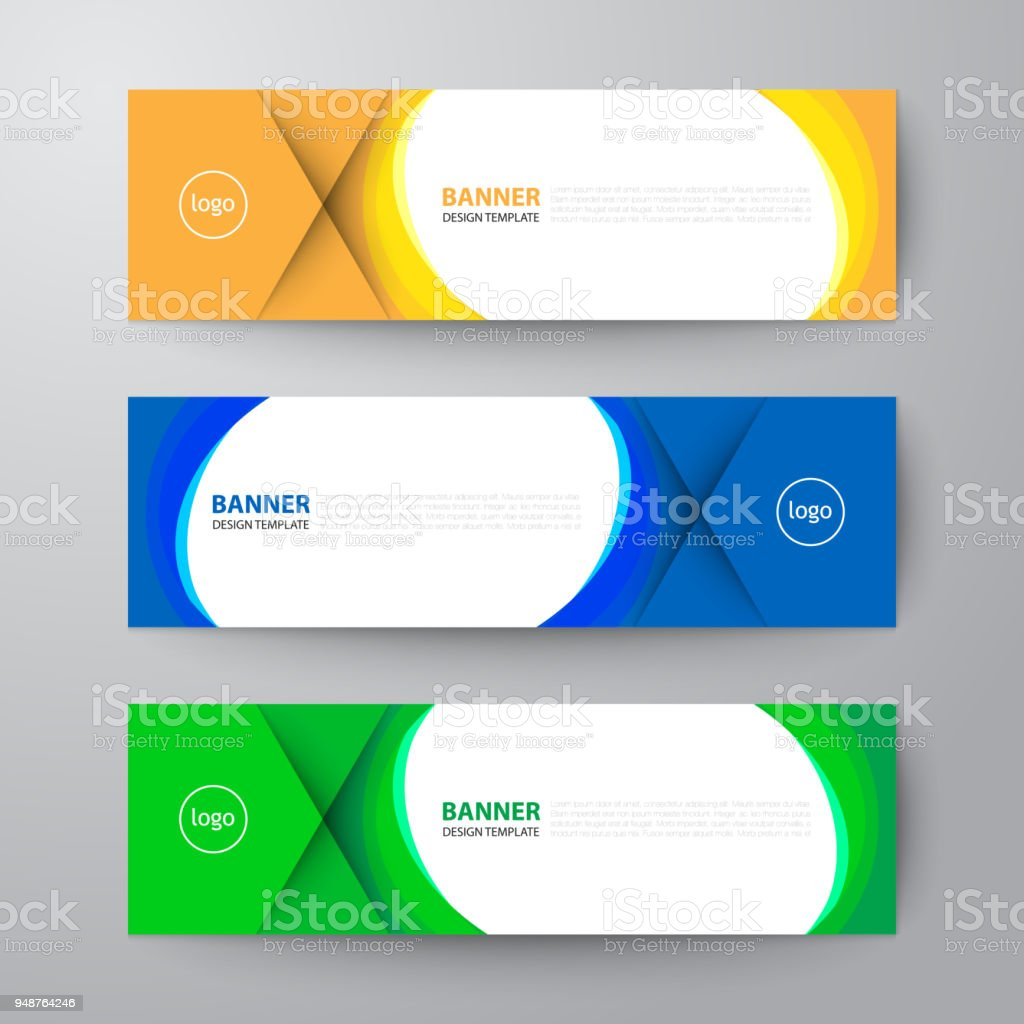 banners web design template abstract vector background stock vector