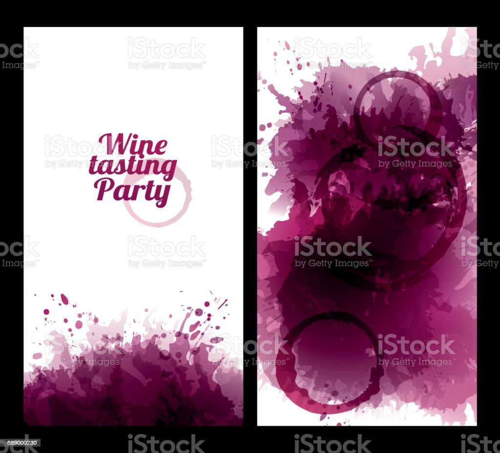 Banderas con el fondo las manchas de vino arte vectorial - Manchas de vino ...