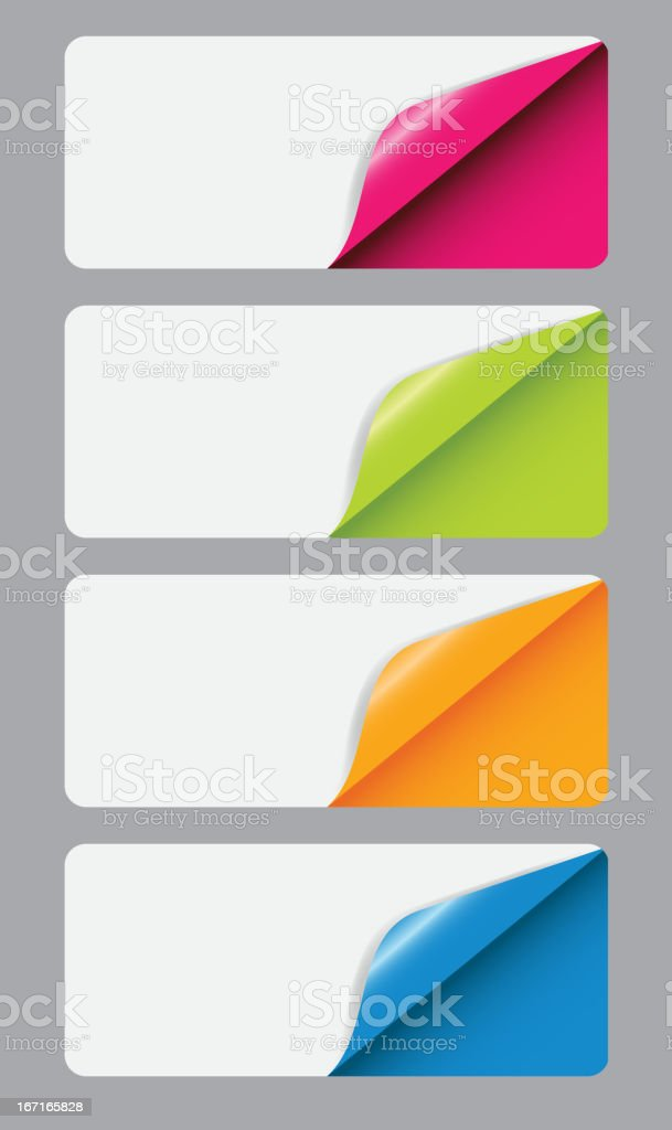 Banners with different corne. vector illustration vector art illustration