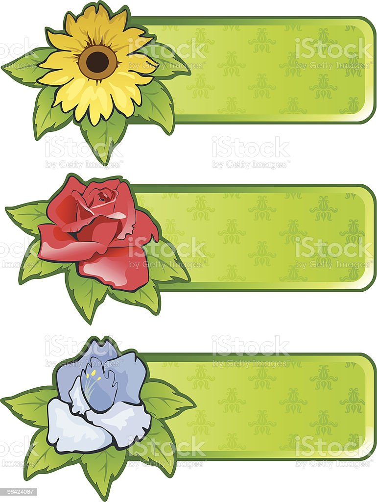 Banners with flowers royalty-free banners with flowers stock vector art & more images of art
