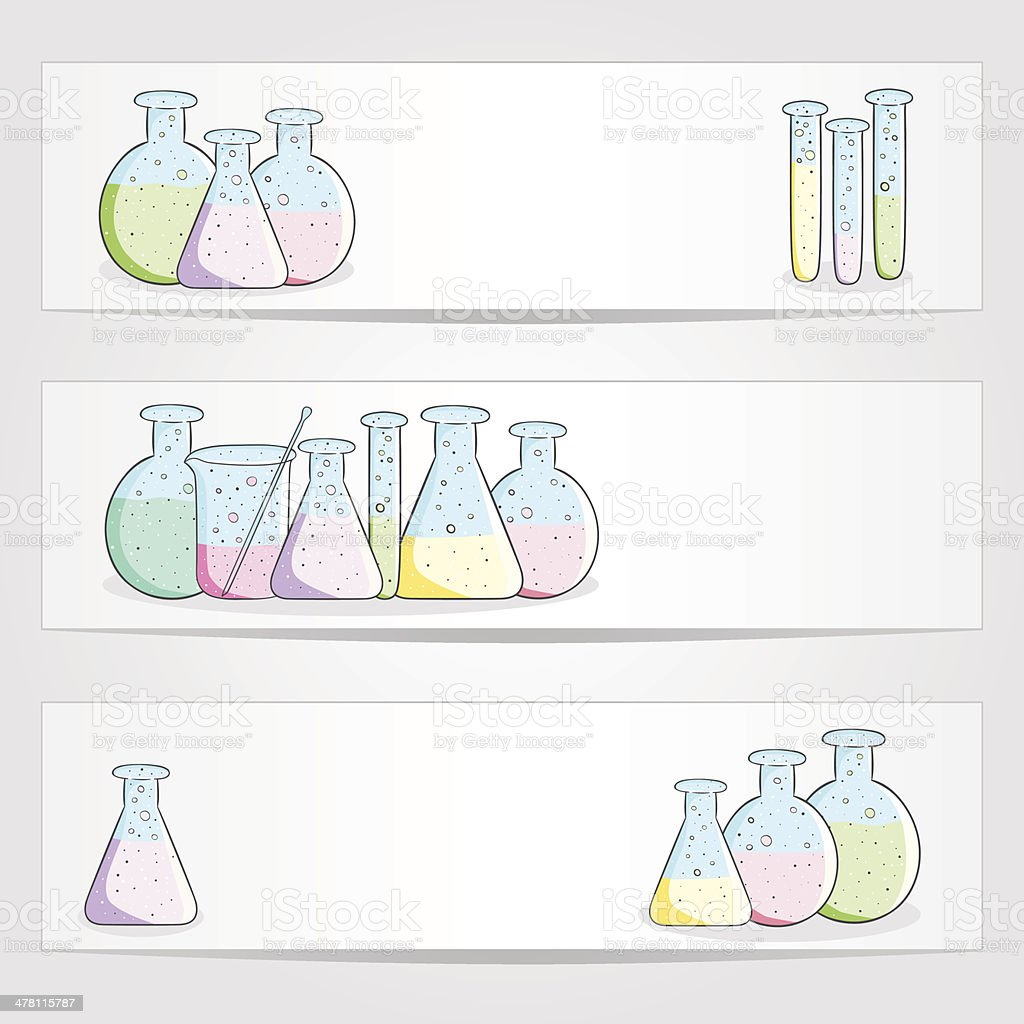 Banners with laboratory test tubes royalty-free banners with laboratory test tubes stock vector art & more images of analyzing