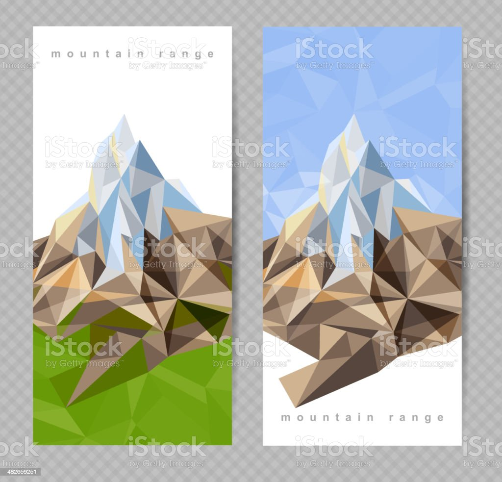 banners with mountains royalty-free stock vector art